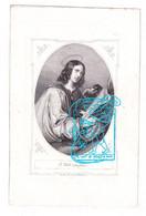DP Guilielmus Andreas Van Puttegem ° Essen 1818 † 1859 X Anna Dymphna Van Agtmael // St. Jean Evangeliste - Devotieprenten