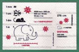 AUSTRIA 2020 Autriche Österreich - COVID-19 Miniature Sheet MNH **- CORONAVIRUS PANDEMIC, Tissue / Toilet Paper -as Scan - Enfermedades