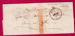 CAD TYPE 15 BEAUNE COTE D'OR OR CHEVIGNY EN VALIERE 1855 POUR CHALON SUR SAONE ET LOIRE - 1801-1848: Precursors XIX