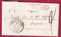 CAD TYPE 13 ARNAY LE DUC COTE D'OR DECIME RURAL DE LACANCHE 1835 POUR BEAUNE - 1801-1848: Precursors XIX