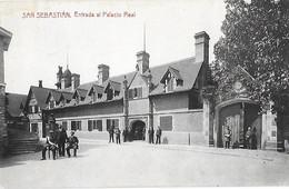 Espagne - SAN SEBASTIAN - Saint Sébastien - CPA - Entrada Al Palacio Real - - Autres