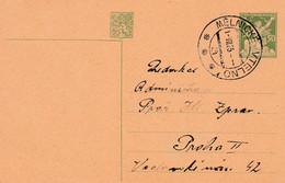Czechoslovakia, Stationary, Cancelled Melnické Vtelno, 1.VII.25 - Cartas