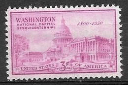 1950 3 Cents Capitol Mint Never Hinged - Unused Stamps