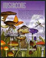 Grenada - Grenadines 2002 Flora & Fauna Perf Composite Sheetlet Containing 6 Values (Mushrooms), Signed By Thomas C Wood - Grenada (1974-...)