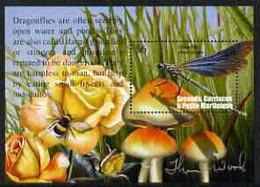 Grenada - Grenadines 2002 Flora & Fauna Perf M/sheet (Dragonfly), Signed By Thomas C Wood The Designer, U/M - Grenada (1974-...)