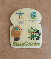 Vancouver 2010 Olympic - Paralympic Games – SleepCountry Pin With Mascots - Jeux Olympiques