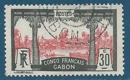 Gabon N°40 Vue De Libreville 30c Oblitéré - Gebruikt