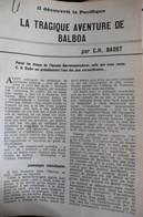 Article Revue Histoire Pour Tous N°37 Mai 1963 La Tragique Aventure De Vasco Nunez Balboa - History