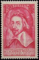 FRANCE 305 ** MNH Académie Française Et Cardinal De Richelieu 1935 (CV 90 €) - Nuevos