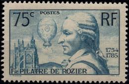 FRANCE 313 ** MNH Aéronaute François Pilâtre De Rozier Montgolfière Cathédrale Metz 1936 Cote 45 € - Nuevos