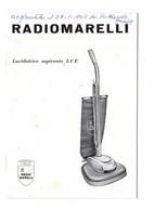 """13993""""LUCIDATRICE ASPIRANTE LCE - RADIOMARELLI """" LIBRETTO ISTRUZIONI-10 PAGINE-FORMATO:Cm. 16,7 X 11,5 - Other"""
