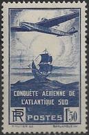 FRANCE 320 ** MNH 100ème Traversée Atlantique-Sud Poste De France Aviation Aéropostale 1936 (CV 20 €) - Nuevos