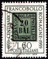 ITALIA - 1959 -Centenario Francobolli Delle Romagne - (RID10021) - 1946-60: Used