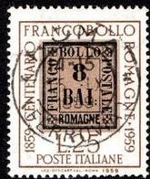 ITALIA - 1959 -Centenario Francobolli Delle Romagne - (RID10004) - 1946-60: Used
