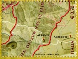 IT 3461 FRANCOBOLLO STAMP ITALIA 2013 USED CONFINI DI SAN MARINO FAETANO - 2011-...: Used