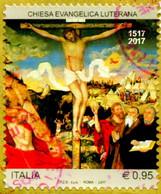 IT 3818 FRANCOBOLLO STAMP ITALIA 2017 USED CHIESA EVANGELICA LUTERANA - 2011-...: Used