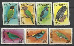 Suriname 1977 Mi 764-770 MNH  (ZS3 SRN764-770) - Parrots