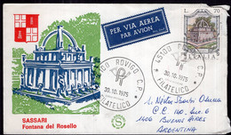 Italia - 1975 - Lettera - Per Via Aerea - Sassari Fontana Del Rosello  - A1RR2 - 1971-80: Marcophilia