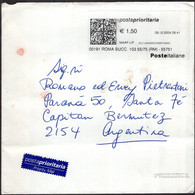 Italia - 2004 - Lettera - Per Via Aerea - Posta Priority Internazionale -> Argentina - A1RR2 - 2001-10: Marcophilia