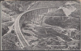 NEW ZEALAND HAPUAWHENUA VIADUCT POSTCARD 1920 1.1/2d VICTORY SOLO FRANKING TPO POSTMARK - Covers & Documents