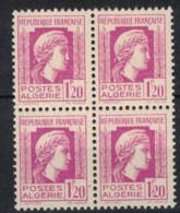 ALGERIE      N°  YVERT  213 X4  NEUF SANS  CHARNIERE   ( NSCH 1/22 ) - Ungebraucht
