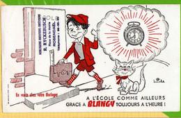 BUVARD & Blotting Paper :Le Reveil Toujours A L'heure  Ryckebusch Rosendal Chat  Signe Miche - Animals