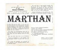 DOODSPRENTJE HARINCK MEDARD ECHTGENOOT CLAERHOUT DESSELGEM WAREGEM 1933 - 1970 - Devotieprenten