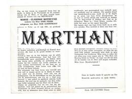 DOODSPRENTJE BOTHUYNE MARIE WEDUWE PEERS ECHTGENOTE GODEFROOT ZULTE 1901 - 1969 - Devotieprenten