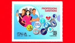 Nuovo - MNH - ITALIA - 2021 - Professioni Sanitarie – Sagome E Figure Stilizzate - B - 2011-...: Mint/hinged