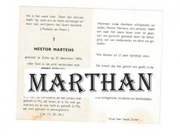 DOODSPRENTJE MARTENS NESTOR ECHTGENOOT PIERARD ZULTE 1894 - 1966 - Devotieprenten