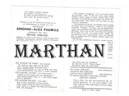 DOODSPRENTJE PAUWELS SIMONNE ECHTGENOTE DEBLANC ZULTE WAREGEM 1926 - 1968 - Devotieprenten
