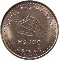 NEPAL CONSTITUTION 2015 100-Rupees Commemorative COIN  UNC - Nepal