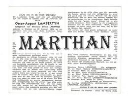 DOODSPRENTJE LAMBERTYN OSCAR ECHTGENOOT LAGRANGE WAKKEN 1898 - 1973 - Devotieprenten