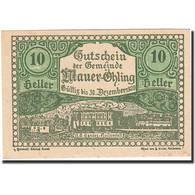 Billet, Autriche, Mauer Ohling, 10 Heller, Paysage, 1920, 1920-12-30, SPL - Austria