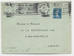 N° 140 LETTRE KRAG 1H55 DE PARIS ROUEN GARE 11 AVRIL 1925 SEINE INF COTE 50€ - Mechanical Postmarks (Advertisement)