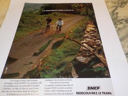 ANCIENNE PUBLICITE REDECOUVREZ LE TRAIN  SNCF 1977 - Railway