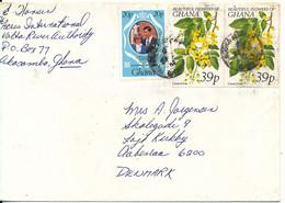 Ghana Cover Sent To Denmark 1982 - Ghana (1957-...)