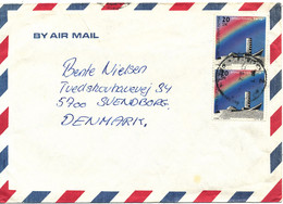 Israel Air Mail Cover Sent To Denmark 1986 - Airmail