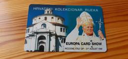 Phonecard Croatia - Pope, Croatian Text - Croazia