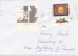 Israel Cover Sent To Denmark - Airmail