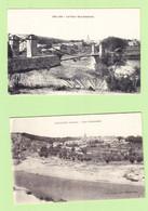 Lot De 4 CPA COLLIAS , Le Gardon , Cascade Du Moulin , Le Pont , Vue Générale - 2 Scans - Andere Gemeenten