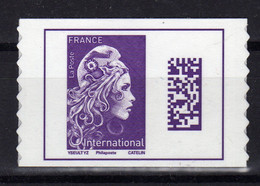 FRANCE 2018 Marianne Datamatrix Autoadhesif Yv 1604 MNH ** - Adhesive Stamps