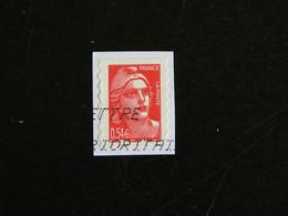 FRANCE YT 3977 ET YT ADHESIF 96 OBLITERE - MARIANNE DE GANDON - Adhesive Stamps
