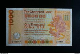 (M) 1979 HONG KONG OLD ISSUE CHARTERED BANK 1,000 DOLLARS #A093987 - Hong Kong