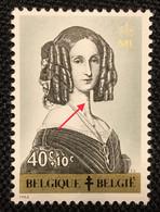 Belgique OCB 1234-Cu** Monogamme ML.MNH.Griffes Sur La Gorge. T.B ! - Curiosités
