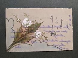 CARTE CELLULOID  BOUQUET DE ROSES JOYEUX MARIAGE  1919 - Marriages