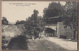 CPA 48 - VILLEFORT - Le Pont Biais - TB PLAN EDIFICE CHEMIN DE FER TRAIN LOCOMOTIVE + Jolie ANIMATION Devant Sur Chemin - Villefort