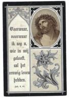 MARIA ROSALIA PEIGNEUX ECHTG JOSEPHUS N F VANBEREYKEN ( VANDEREYCKEN ) ° HERSTAPPE 1854 + SCHERPENHEUVEL 1897 - Devotieprenten