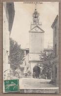 CPA 30 - CONNAUX - L'Horloge - TB PLAN Place Rue CENTRE VILLAGE TB ANIMATION FONTAINE - Andere Gemeenten