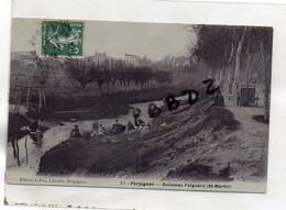 CPA - 66 - PERPIGNAN - Ruisseau Falguère - St Martin -  Lavandières - Pas  Courant - Perpignan